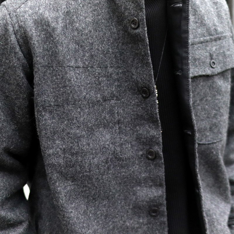 Quilp * WALKER -Shirt Jacket- / Marble grey