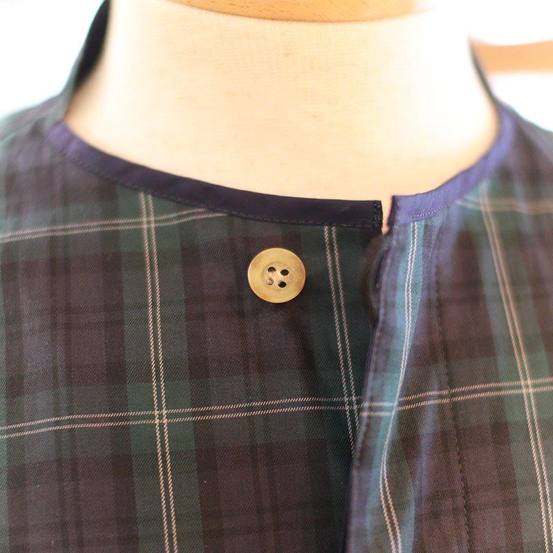 Quilp * GADD -No Collar Shirt- / Twill Check