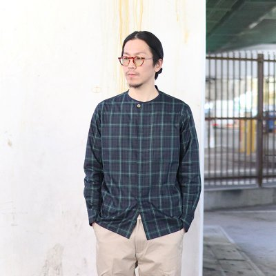 Quilp * GADD -No Collar Shirt- / Twill Check