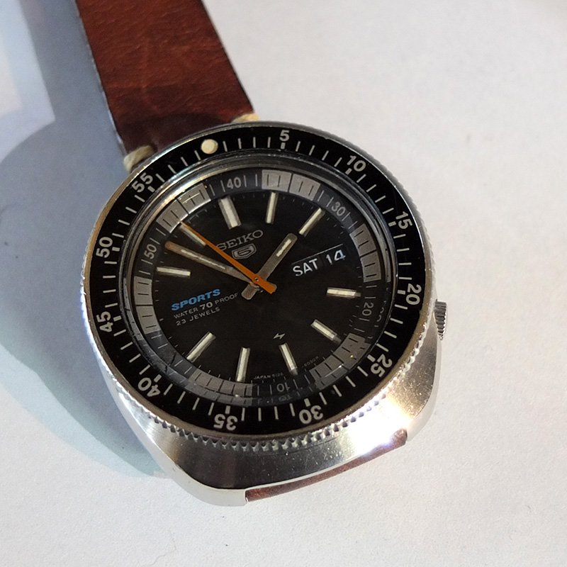 Vintage Watch * SEIKO 5SPORTS / Double bezel