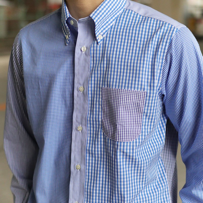 INDIVIDUALIZED SHIRTS  * Crazy Check B.D -Standard Fit-