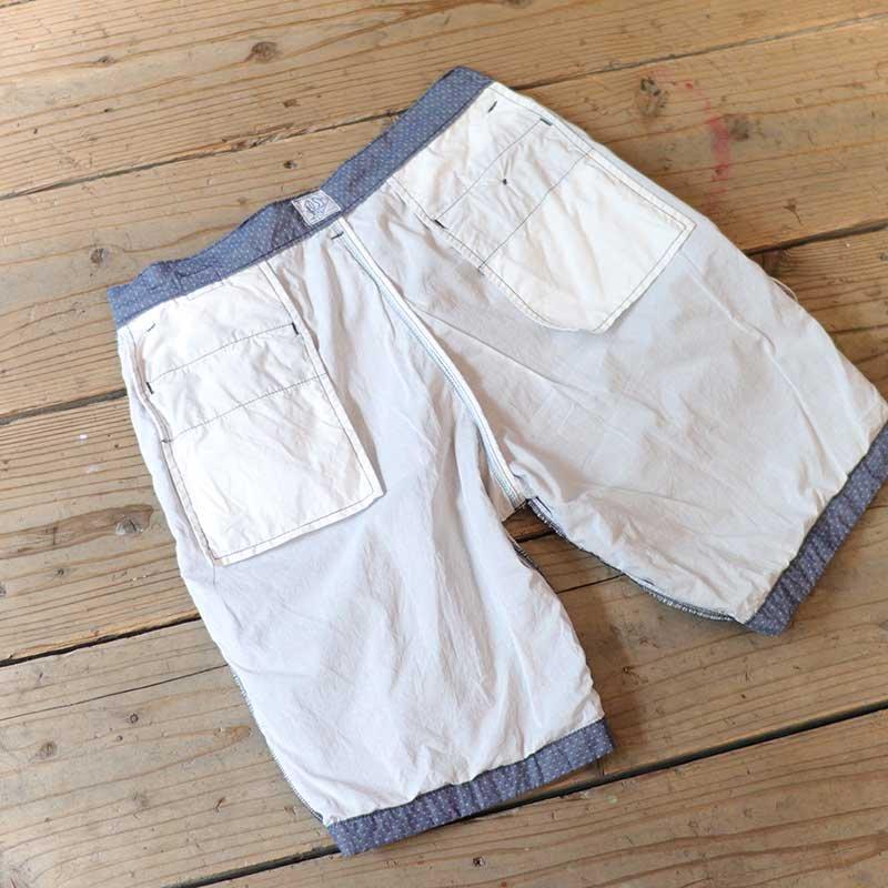 POST OVERALLS * Menpolini Extra Shorts / dobby chambray indigo