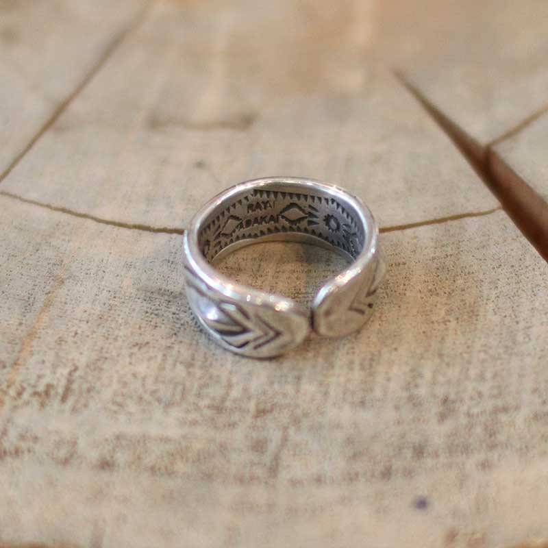 RAY ADAKAI * Double Stamp Ring Open End
