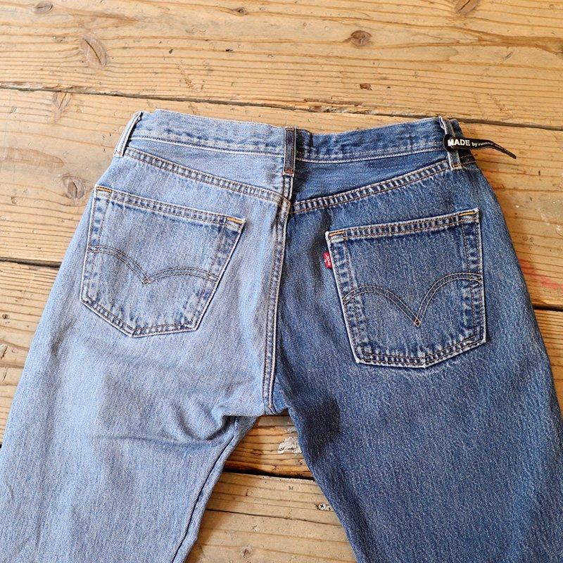 Sunny Side Up * Remake 2 for 1 Denim 5P pants / Blue