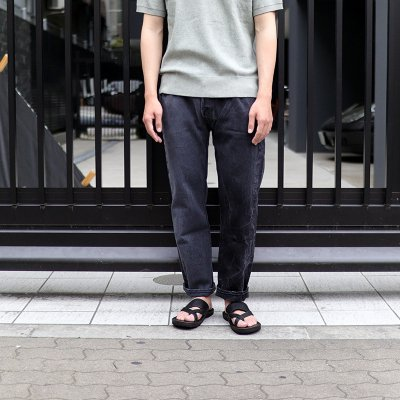Sunny Side Up * Remake 2 for 1 Denim 5P pants / Black