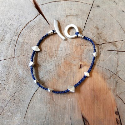 Jill Platner * Snowflake Bracelet  Indigo