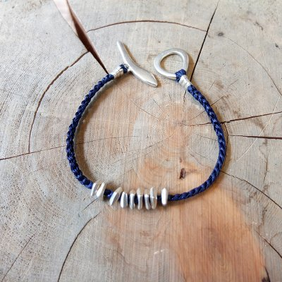 Jill Platner * Ember Bracelet  Indigo