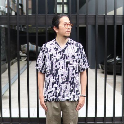 NIPOALOHA * RAYON SHORT SLEEVE ALOHA SHIRT / MANHATTAN