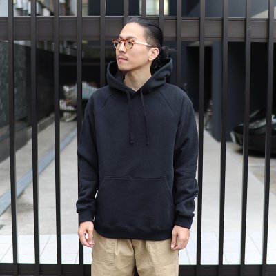 UP CYCLE * HEAVY FLEECE PULLOVER HOODIE / BLACK