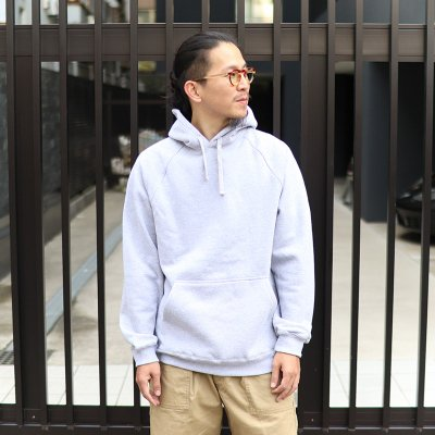 UP CYCLE * HEAVY FLEECE PULLOVER HOODIE / HEATHER GREY