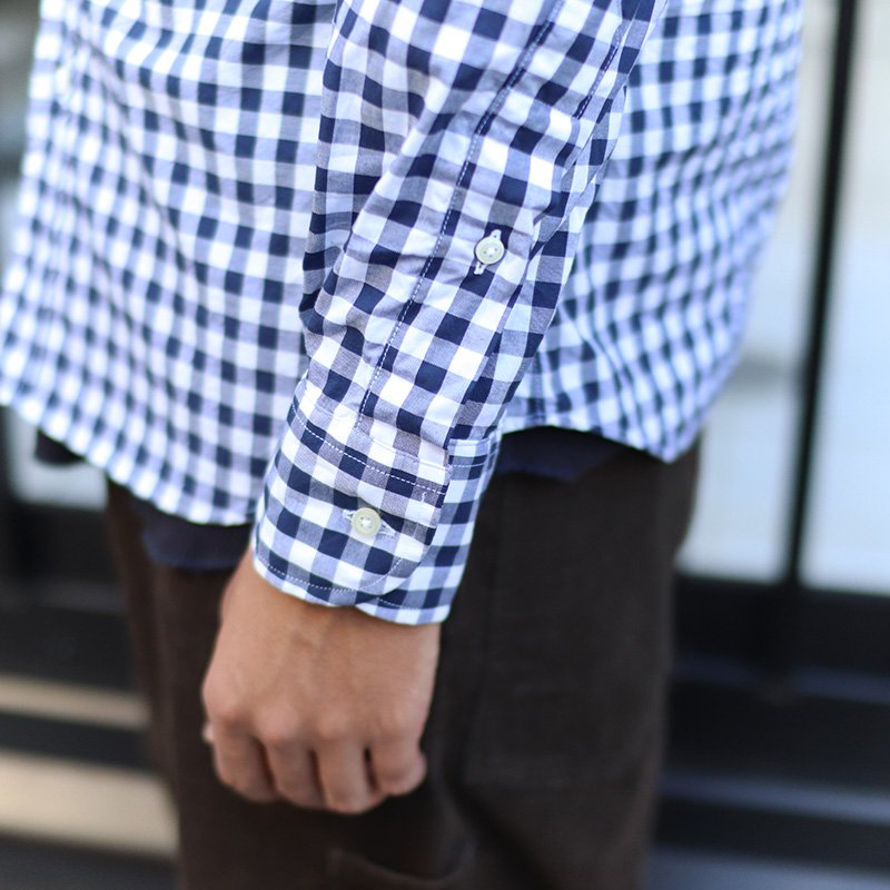 INDIVIDUALIZED SHIRTS  * Big Gingham Check B.D -Standard fit-