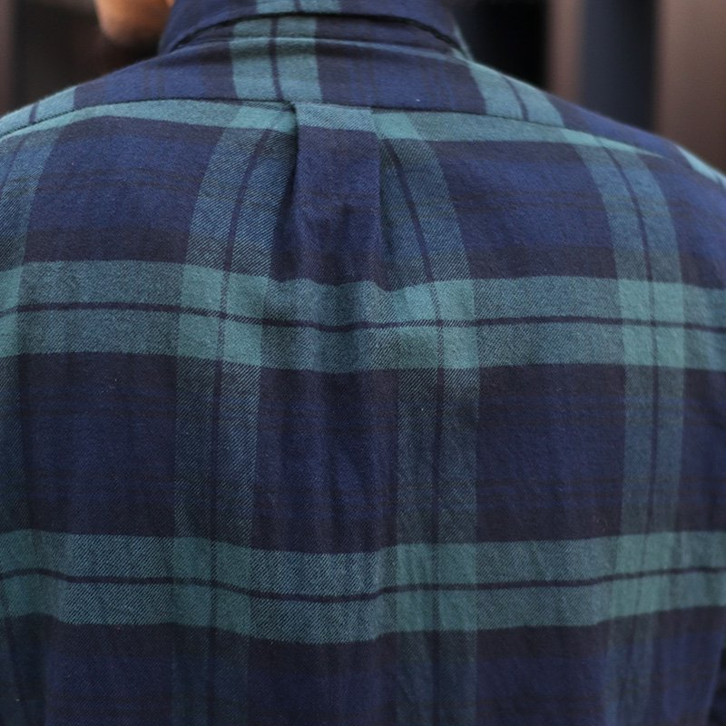 INDIVIDUALIZED SHIRTS  * Check Flannel B.D -Standard fit- / Green