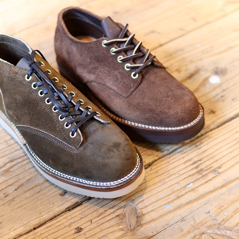 VIBERG BOOT * Lace to Toe Oxford Olive Roughout