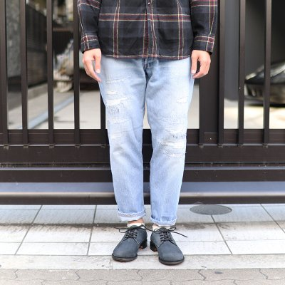 Sunny Side Up * Remake Denim 5P pants - Blue