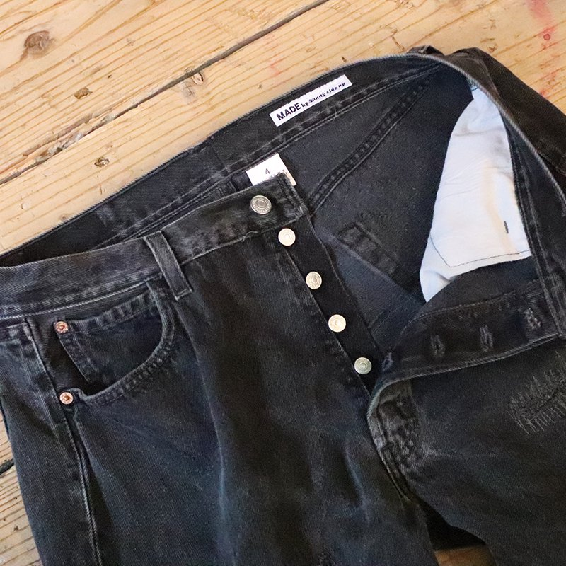 Sunny Side Up * Remake Denim 5P pants - Black