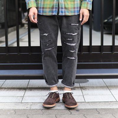 Sunny Side Up * Remake Denim 5P pants - Black