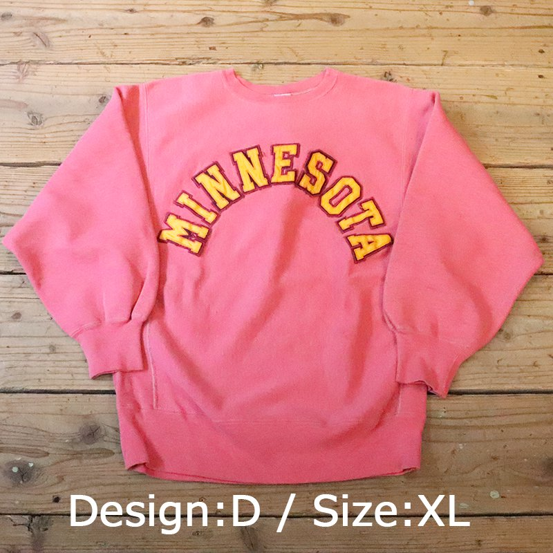 Used Champion * Reverse Weave  Crew Neck -Over Dye- / Pink