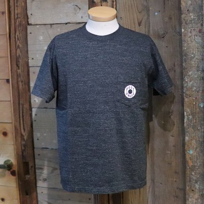 POST OVERALLS * Donut pocket Tee - black heather