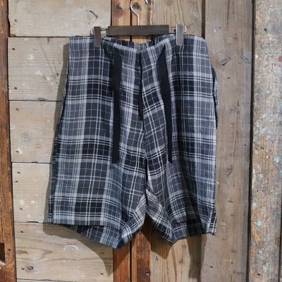 Quilp * HUNT (SHORT) - LINEN CHECK