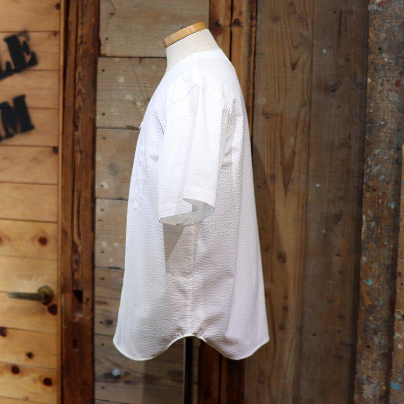 POST OVERALLS * BDU Shirt - P/C Seersucker- White