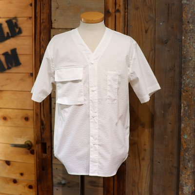 POST OVERALLS * BDU Shirt - P/C Seersucker- White