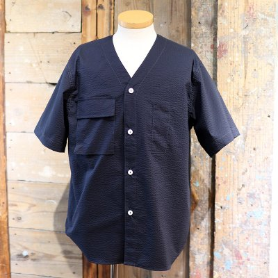 POST OVERALLS * BDU Shirt - P/C Seersucker-Navy
