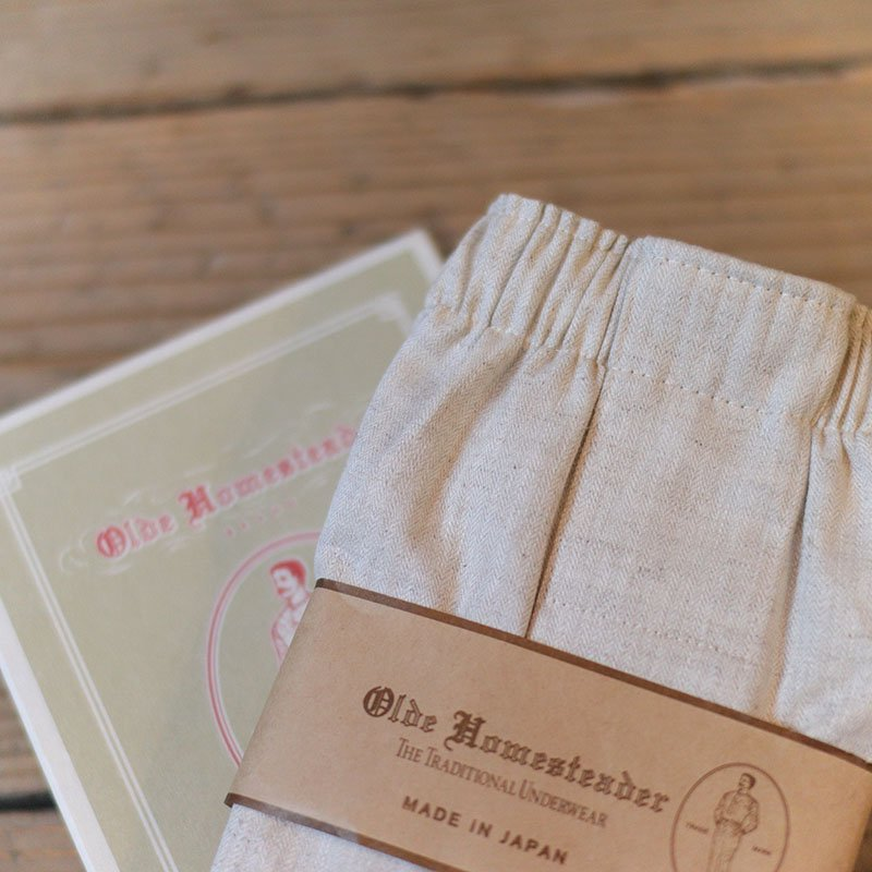 Olde Homesteader * Linen Herringbone - Ecru