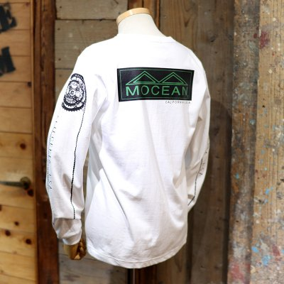 MOCEAN * WHEEL T Shirts L/S  White