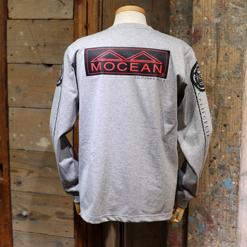 MOCEAN * WHEEL T Shirts L/S  Heather Gray