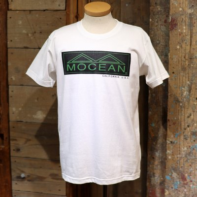 MOCEAN * BOX LOGO  T Shirts S/S  White