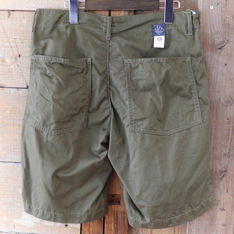 POST OVERALLS * New Maker Shorts - fine heringbone / olive