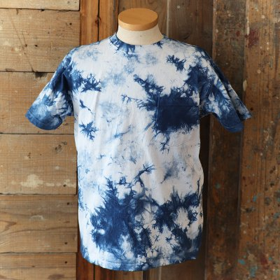 Goodwear * Crew Neck Pocket Tee -Tie Dye- / Indigo
