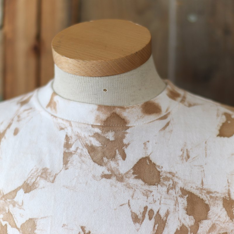 Goodwear * Crew Neck Pocket Tee -Tie Dye- / Catechu