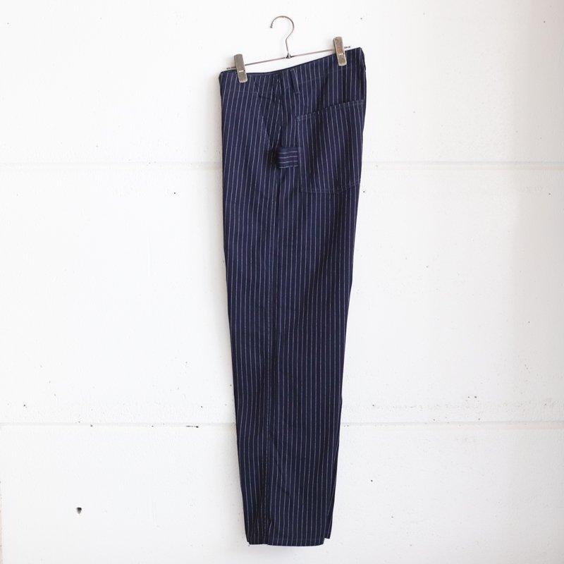 POST OVERALLS * Mainter Pants Gangster Stripe  Indigo