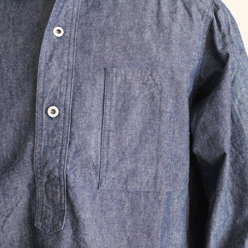 POST OVERALLS * No.1 Shirt   Heavy Chambray  Indigo