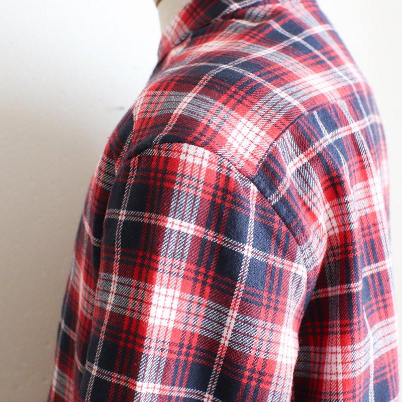 GRANDAD SHIRTS * Irish Grandad Collar Shirts Red x Navy