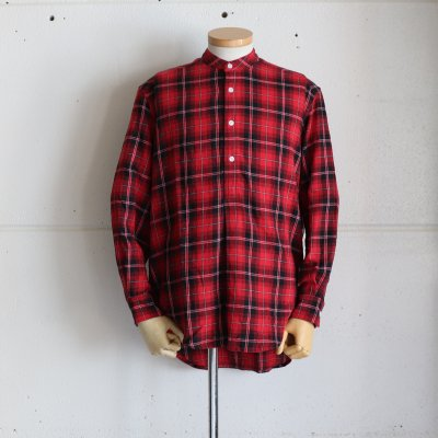 GRANDAD SHIRTS * Irish Grandad Collar Shirts Red x Black