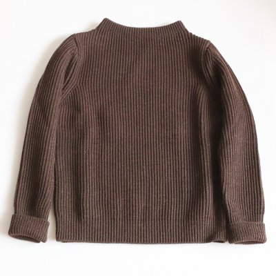 ANDERSEN-ANDERSEN * NAVY CREWNECK 5GG Natural Brown