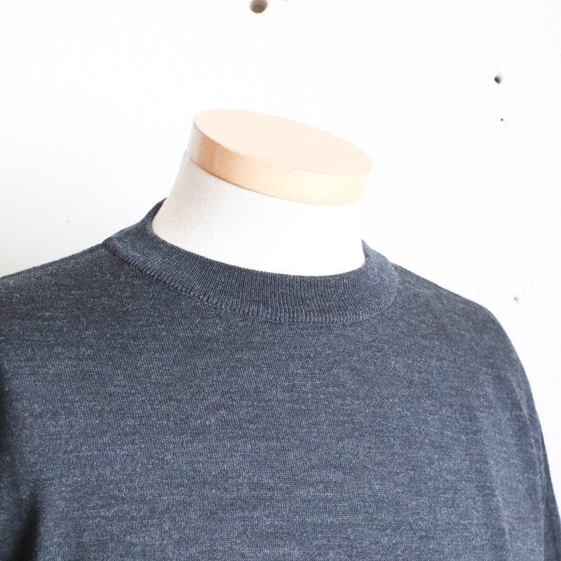 SUGATA LABO * Merino Wool Tee   Charcoal Gray