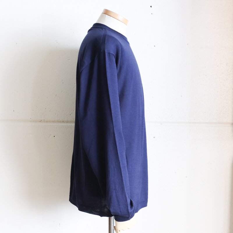 SUGATA LABO * Merino Wool Tee   Navy