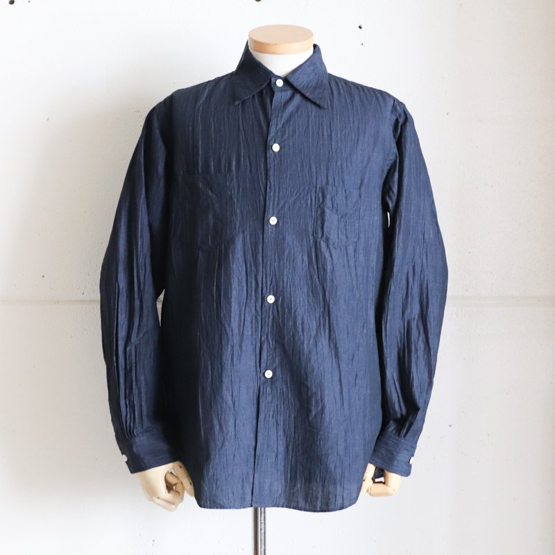 POST OVERALLS * NEUTRA2 Crinkle Linen/Cotton Navy