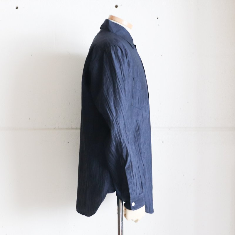 POST OVERALLS * NEUTRA2 Crinkle Linen/Cotton Navy