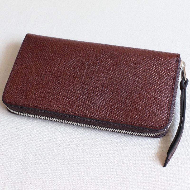 ITUAIS * Round Zip Long Wallet    Russian Calf