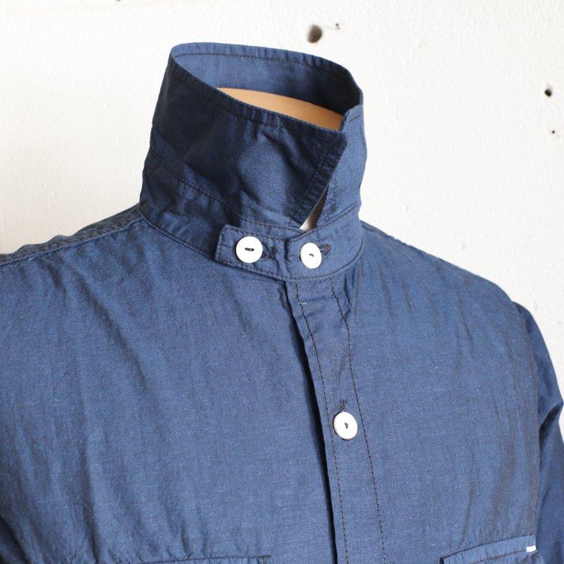 POST OVERALLS * Cruz Shirt 2  End-on-End  Dark Blue