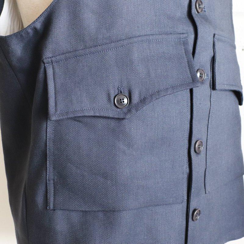 1ST PAT-RN * ROMEO VEST  Wool/Hemp    Navy
