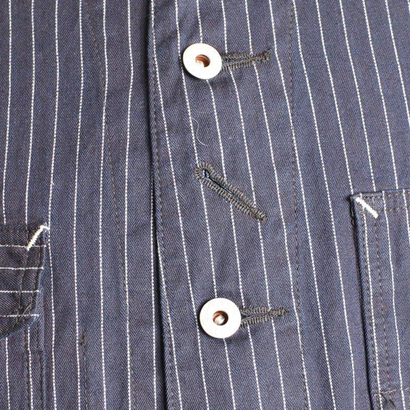 POST OVERALLS * Engineers Jacket  Gangster Stripe Indigo