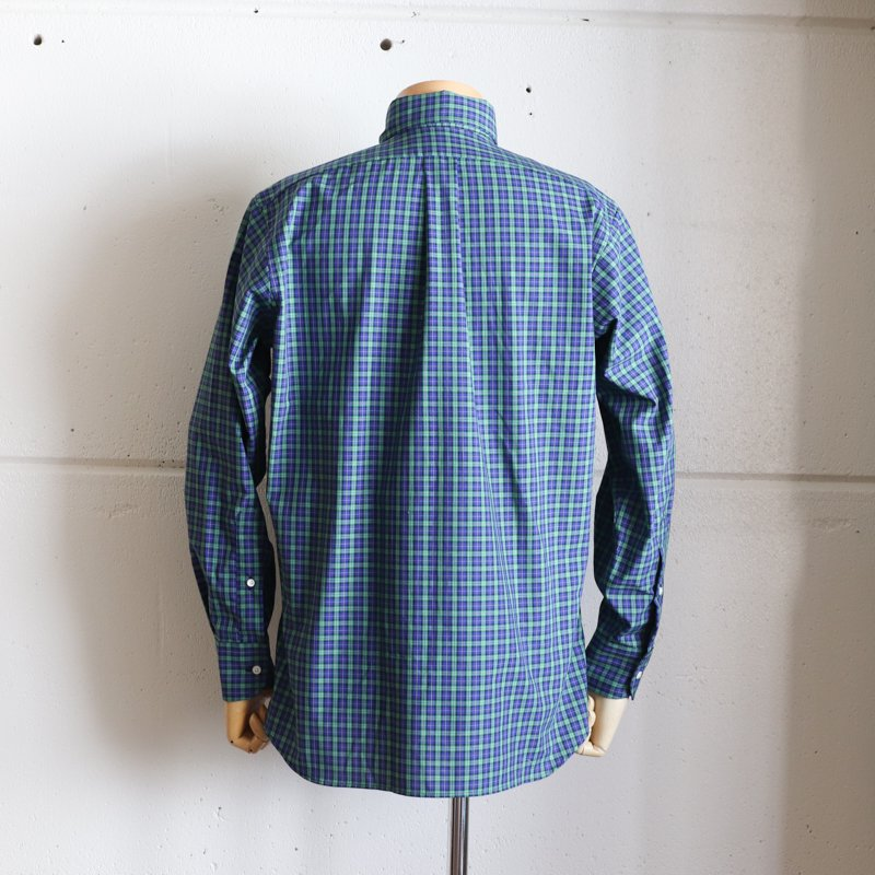 INDIVIDUALIZED SHIRTS  * Check B.D   Classic Fit   Blue x Green