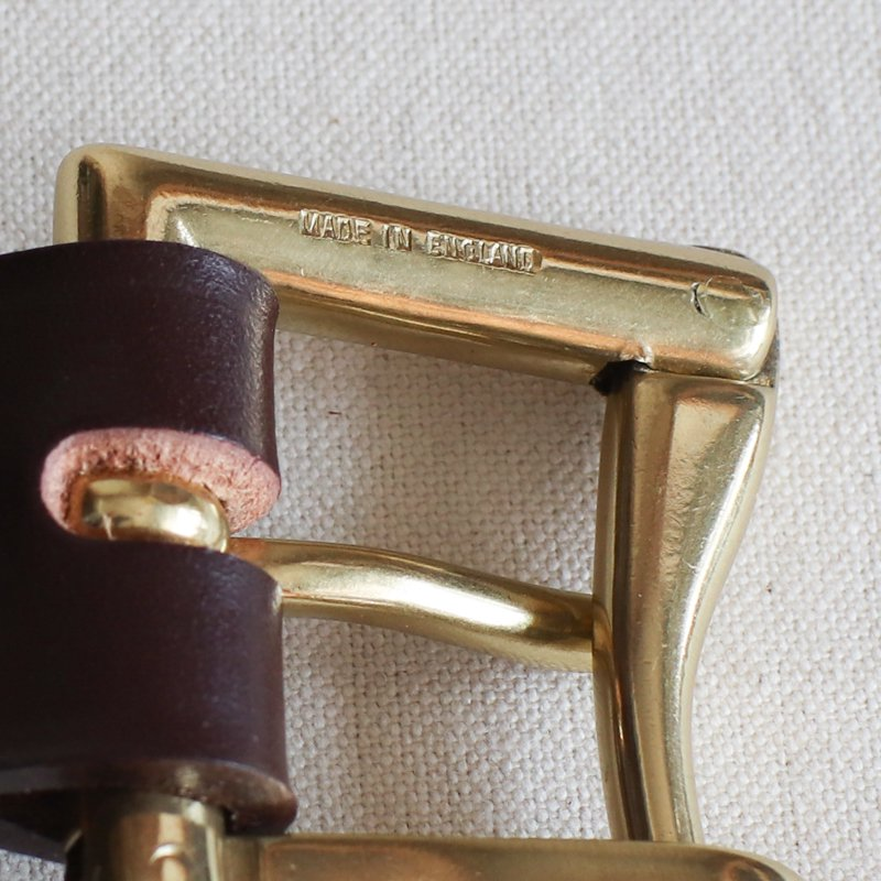 MARTIN FAIZEY * 1.25 inch   quick release mesh belt  Brown