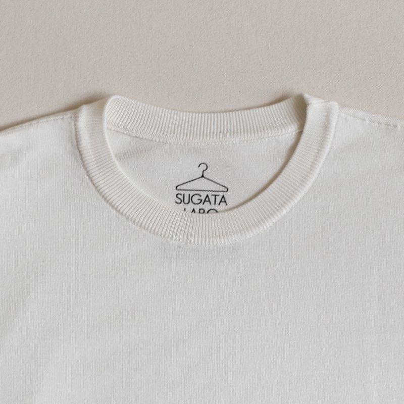 SUGATA LABO * Silk Tee  White