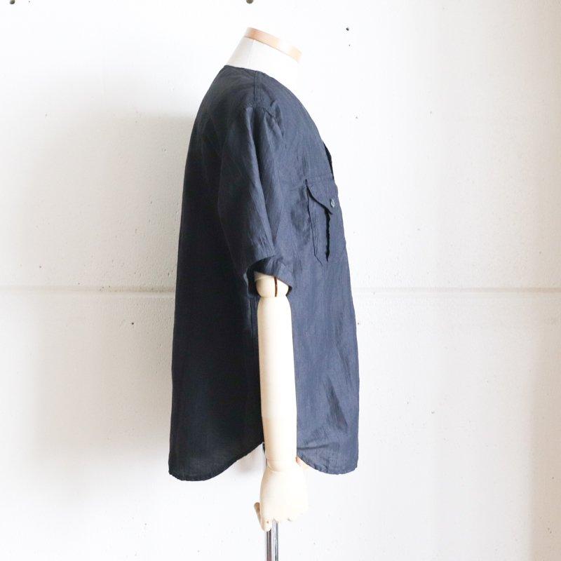 POST OVERALLS * C-POST  DV2  S/S  Crinkle Linen/Cotton  Charcoal